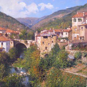 A. Romano Tuscan landscape cm 50x70