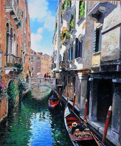 A. Romano Venice. 38x46cm