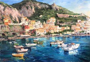 M.R.Serretiello- Amalfi coast-cm 70x100