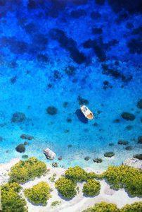 Mirko Morelli Turquoise blue cm 70x100