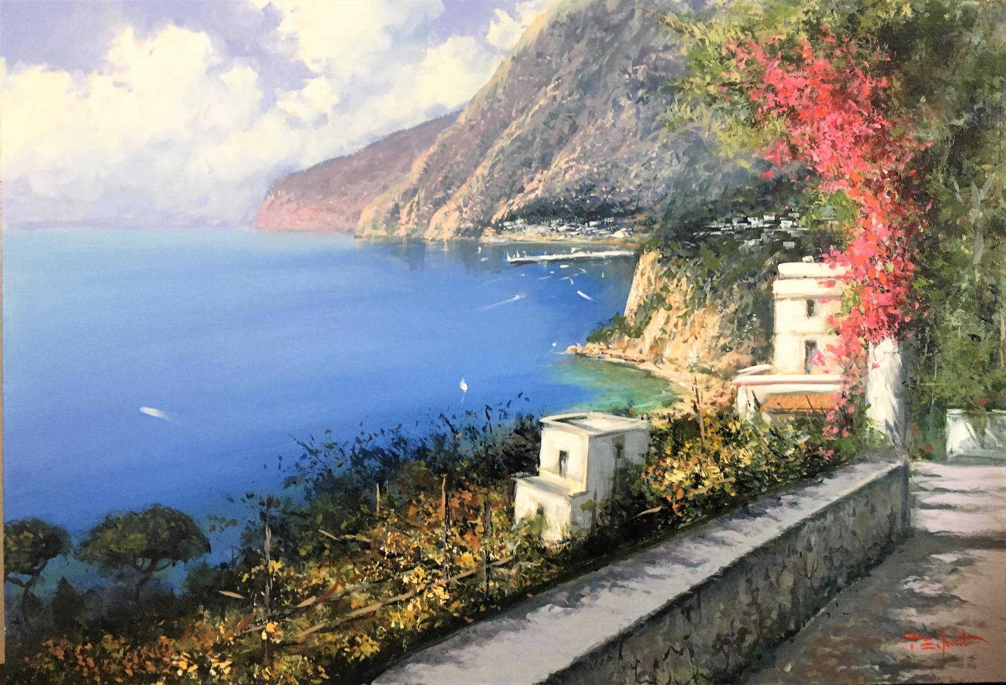 P.Esposito -Sorrento terrace cm 70x100