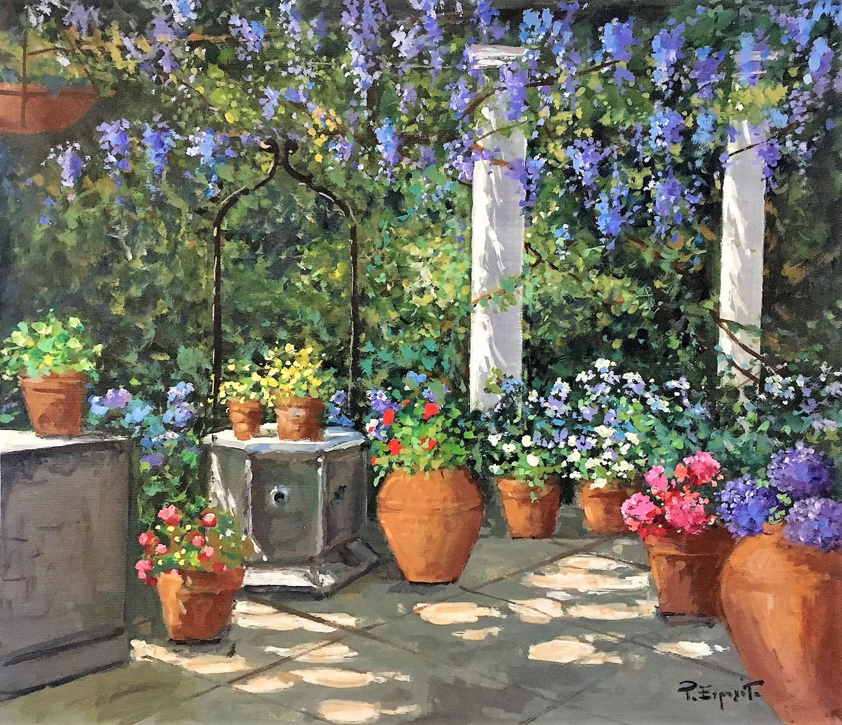 P.Esposito 44x52cm garden