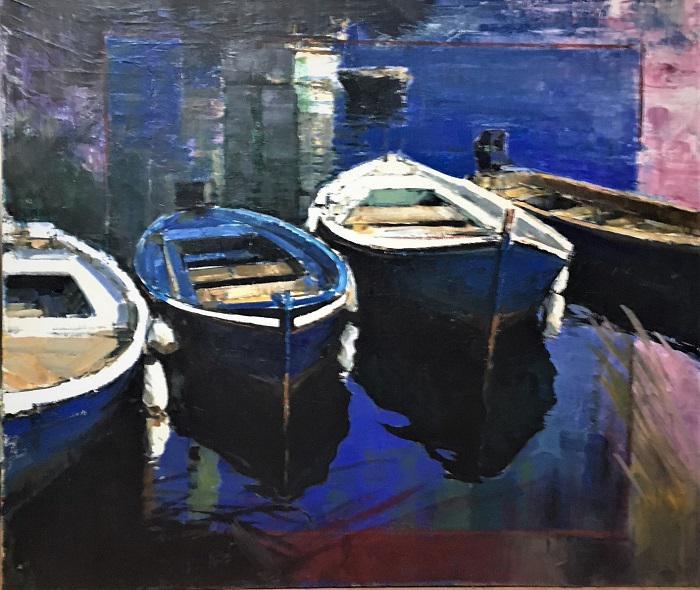 A. Patrisi Blue reflections  cm 100x120