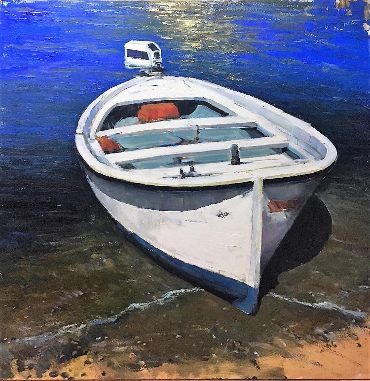A. Patrisi White boat cm 100x100