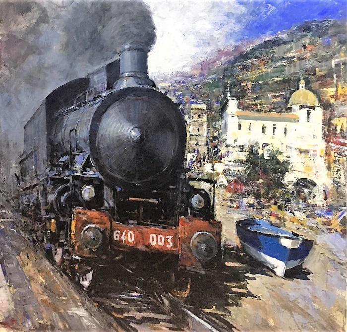A. Patrisi  The steam train cm 100x100